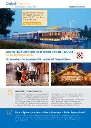 Adventszauber auf dem Rhein und der Mosel mit Reto Blättler