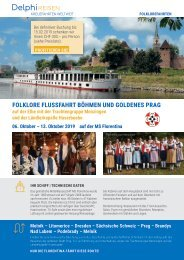 Folklore Flussfahrt Böhmen und Goldenes Prag