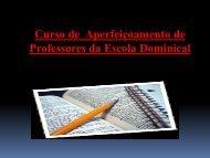 Curso de  Aperfeiçoamento de Professores da EBD