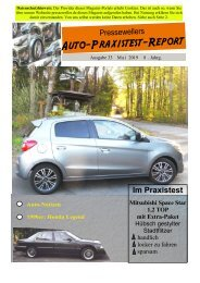 Auto-Praxistest-Report 33 - Presseweller