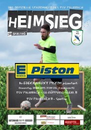 TSV Palmbach Saison 18-19 Heft 14