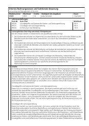 Modul 31031 Internes Rechnungswesen und funktionale Steuerung