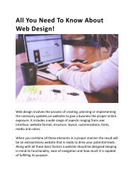 All You Need To Know About Web Design-converted
