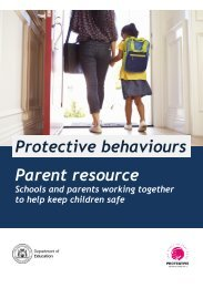 Protective behaviours parent resource