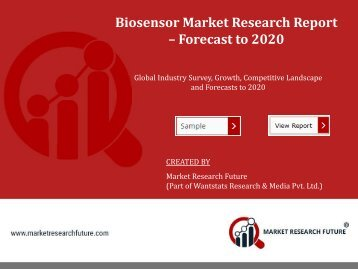 Biosensor Market is Poised to Reach at a CAGR of 9.6% by 2024