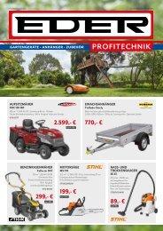 EDER Gartentechnik - Forsttechnik - Reinigungstechnik - Zubehör