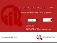 Global Urology Devices Market by Application, By Type, by End User and Region