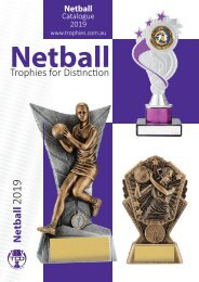 2019 Netball Trophies For Distinction