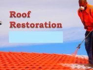Things to Consider When Planning for Roof Restoration