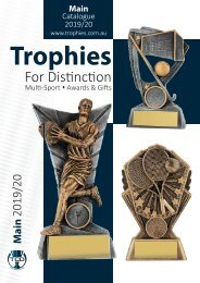 2019 Trophies for Distinction - Winter Edition