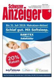 Schwyzer Anzeiger – Woche 22 – 31. Mai 2019