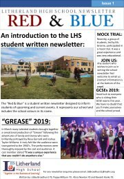LHS Red and Blue - Issue 1