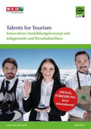 Talents for Tourism