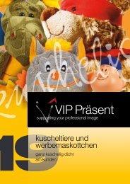 VIP Präsent - Kuscheltiere und Maskottchen 2019