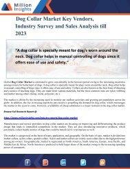 Dog Collar Market Key Vendors, Industry Survey and Sales Analysis till 2023