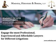 Professional, Experienced and Affordable Lawyers in Milwaukee