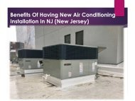 Benefits Of Having New Air Conditioning Installation In NJ (New Jersey)