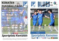 Blues News 264: Kemater Fußballtage