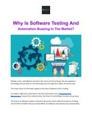 Why Is Software Testing And Automation Buzzing In The Market