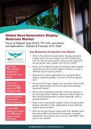 Next Generation Display Materials Market Forecast