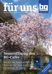 Baugenossenschaft Hof eG: für uns - Juni 2019