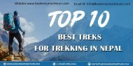Top 10 Treks for Trekking in Nepal 2019