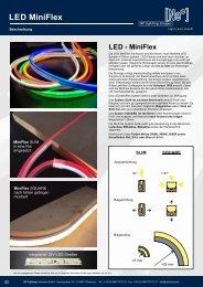 MiniFlex LED Tube Serie - super flexible LED Schläuche in perfekter NEON Anmutung - NP LIGHTING