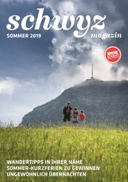 Magazin Schwyz Sommer 2019