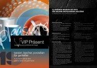 VIP Präsent - Tassen, Becher, Porzellan für Genießer 2019