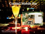Cocktail Mobile Bar Providers in London | Hire A Private Bartender