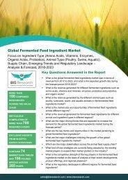 Fermented Feed Ingredient Market Survey