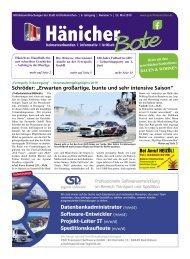 Hänicher Bote | Mai-Ausgabe 2019