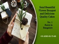Send beautiful flower bouquet and delicious quality cakes