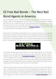EZ Free Bail Bonds – The Best Bail Bond Agents in America