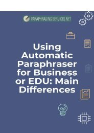 Using Automatic Paraphraser for Business or EDU: Main Differences