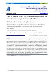 Effect of reduced impact logging to species composition and forest structure in tropical rain forest, North Borneo