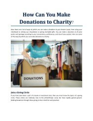 How Can You Make Donations to Charity?