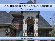 Brick Repointing & Blockwork Experts in Melbourne