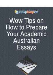 Wow Tips on How to Prepare Your Academic Australian Essays