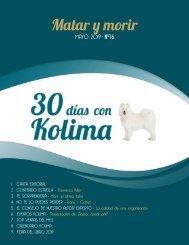 30 días con Kolima - mayo 2019