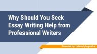 Why Should You Seek Essay Writing Help from Professional Writers