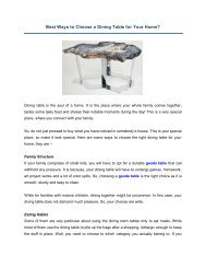 Best Ways to Choose a Dining Table for Your Home
