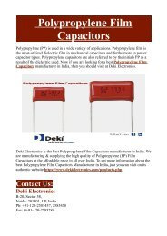 Polyester Film Capacitors Manufacturers