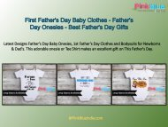 1st Father's Day Baby Onesies - Personalized Newborn Rompers & T-shirts - Father's Day Gifts