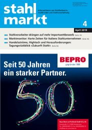 Leseprobe stahlmarkt 4.2019 (April)