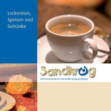 Speisekarte Sandkrug - Lebenshilfe Lüneburg-Harburg