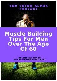 Muscle Building Tips For Men Over The Age Of 60