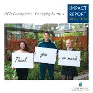 UCD Champions - Impact Report 2019