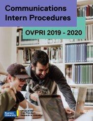 OVPRI Communications Intern Procedures Interactive Test