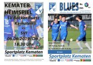 Blues News 265, Kemater Fussballtag